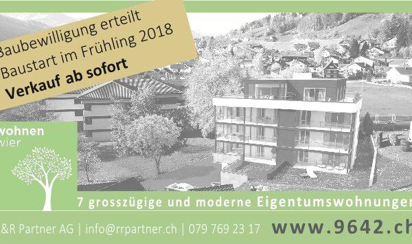 7 Eigentumswohnungen in Ebnat-Kappel – Wohnen im Wier: sonnig | zentral | idyllisch